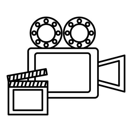 Video camera film and clapper board