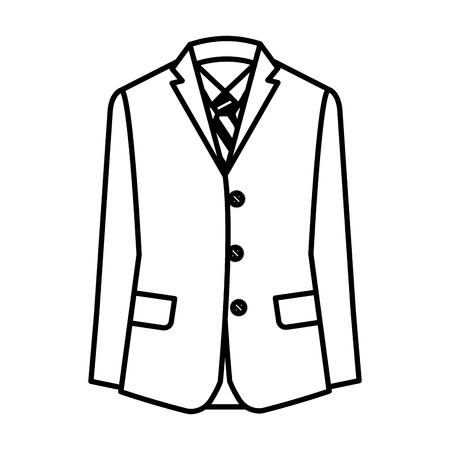 Elegant suit masculine icon
