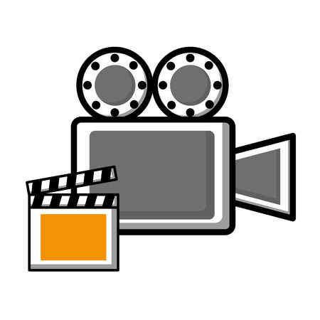 Video camera film and clapper board icon Фото со стока - 99583173