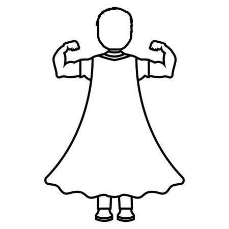 スーパーヒーローバックキャラクター  イラスト・ベクター素材