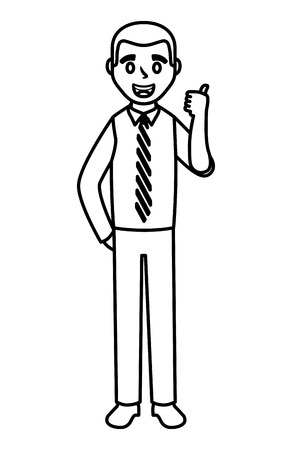 Businessman making OK sign avatar