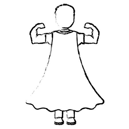 Superhero character icon Illustration