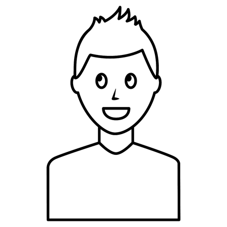 Young man avatar character Illustration