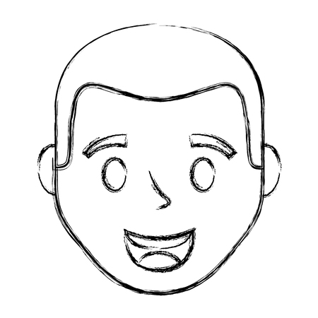 Young man head avatar character Foto de archivo - 99583548
