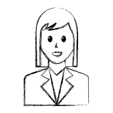 Businesswoman avatar character Illustration