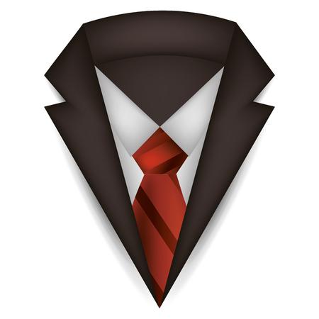 elegant suit masculine icon vector illustration design Stock Illustratie