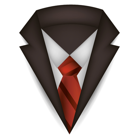 elegant suit masculine icon vector illustration design Vectores
