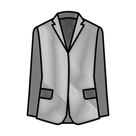 Formal business suit jacket icon Foto de archivo - 99584399