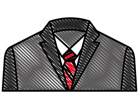 Elegance fashion formal icon Illustration