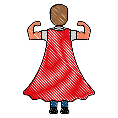 Child with cape character icon
