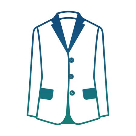 formal business suit jacket for men vector illustration degraded color Иллюстрация