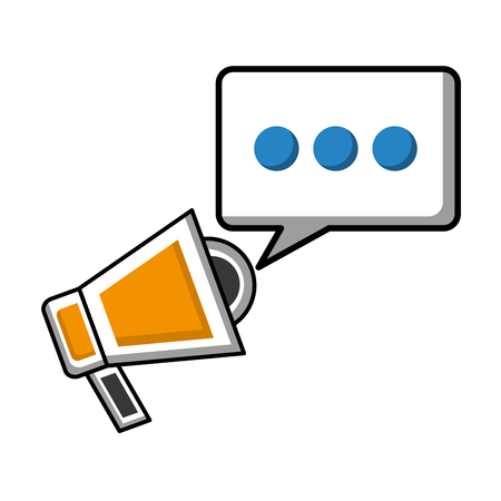 megaphone marketing speech bubble social media vector illustration