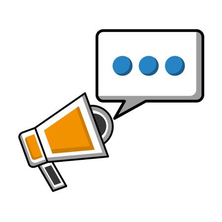 megaphone marketing speech bubble social media vector illustration