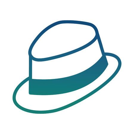 gentleman hat fashion image icon vector illustration degraded color