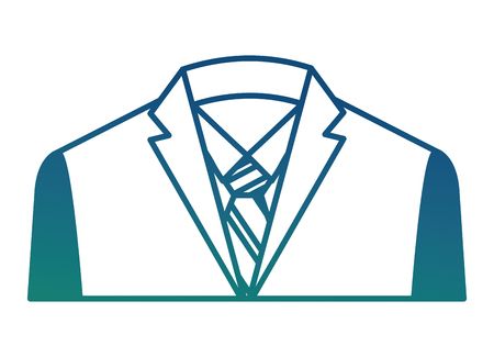 suit shirt necktie elegance fashion formal vector illustration degraded color