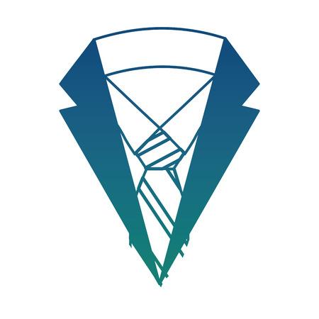 neck suit tie shirt men fashion vector illustration degraded color