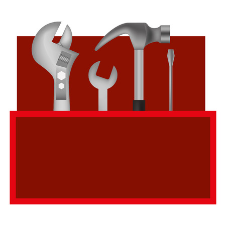tools kit container icon vector illustration design