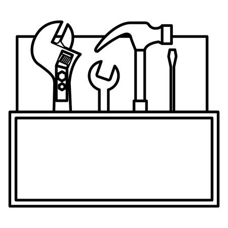gereedschap kit container pictogram vector illustratie ontwerp Stock Illustratie