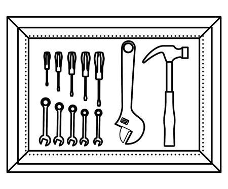 tools box isolated icon vector illustration design Illustration