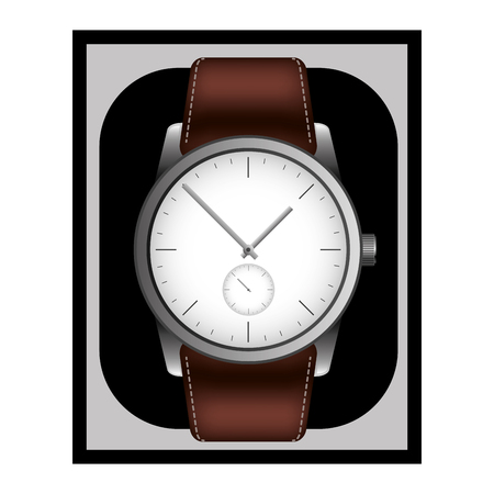 wrist watch in case gift image vector illustration  イラスト・ベクター素材