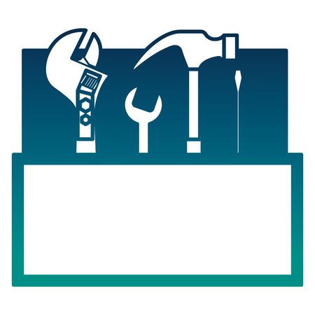 Ontwerp van de het pictogram vectorillustratie van de hulpmiddelenuitrustingcontainer Stock Illustratie