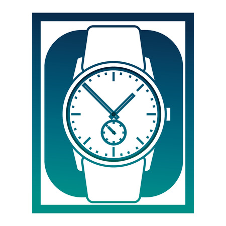 Wristwatch masculine isolated icon vector illustration design