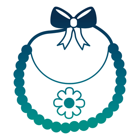 bib baby girl with bow and flower vector illustration design Illusztráció