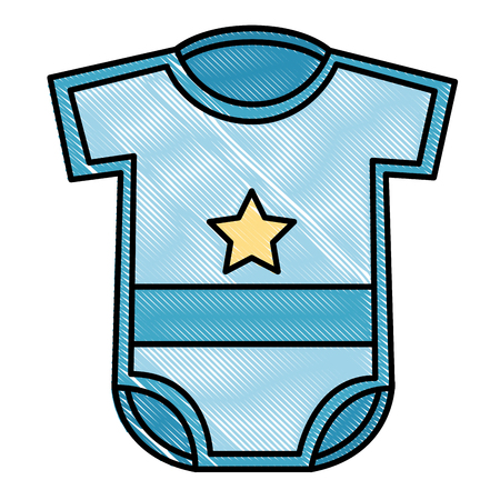 newborn boy clothes baby shower vector illustration drawing