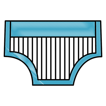 blue panties striped clothes boy baby shower vector illustration drawing