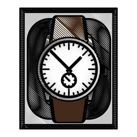 wrist watch in case gift image vector illustration drawing Ilustração