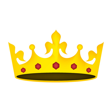 king crown luxury icon vector illustration design