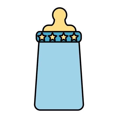 ベビーミルクボトルアイコンベクトルイラストデザイン