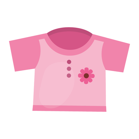 girl shirt clothes baby vector illustration design