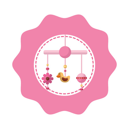baby mobile hanging lace icon vector illustration design