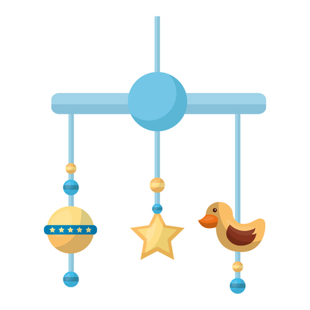 baby mobile hanging isolated icon vector illustration design