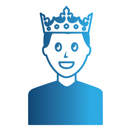 young man with crown avatar character vector illustration design Foto de archivo - 99596551