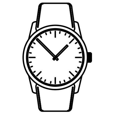 손목 시계 남성 격리 아이콘 벡터 일러스트 레이 션 디자인 일러스트