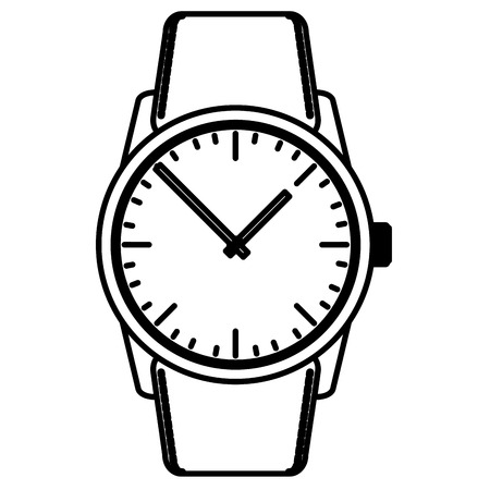 wristwatch masculine isolated icon vector illustration design Stock Vector - 99596589