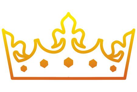 king crown luxxury icon vector illustration design Illustration