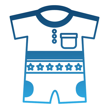 boy shirts and pants clothes baby vector illustration design