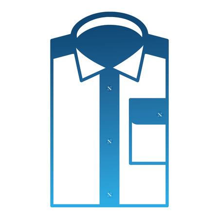 Diseño de ilustración de vector de icono de camisa masculina doblada Ilustración de vector