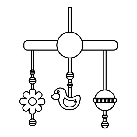 Baby mobile hanging isolated icon vector illustration design.