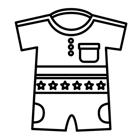 Boy shirts and pants clothes baby vector illustration design.