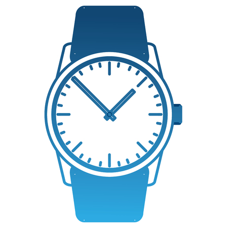 wristwatch masculine isolated icon vector illustration design Stock Vector - 99599423