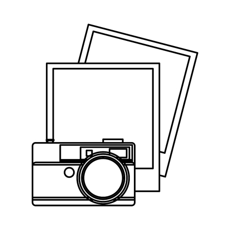 camera photographic with picture vector illustration design Çizim