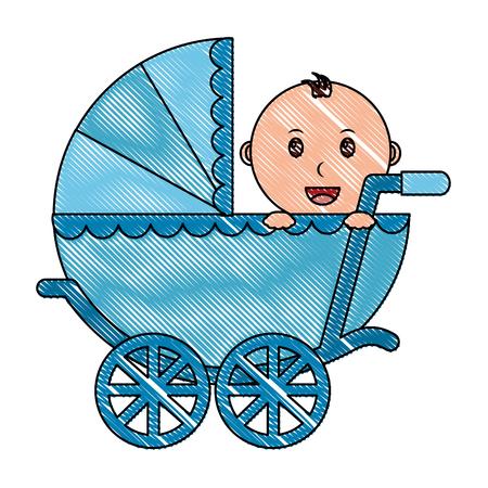Baby Wagen isoliert Symbol Vektor-Illustration , Design , Standard-Bild - 99599432