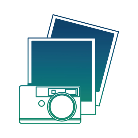 Camera photographic with picture vector illustration design.