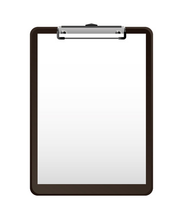 business clipboard supply empty image vector illustration