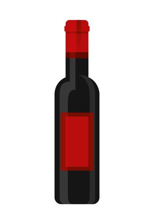 wine bottle drink beverage image vector illustration