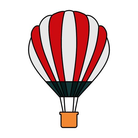 Hot air balloon basket adventure recreation illustration